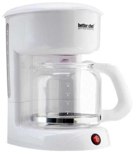 Better Chef 12-Cup Coffee Maker, White - http://www.teacoffeestore.com/better-chef-12-cup-coffee-maker-white/