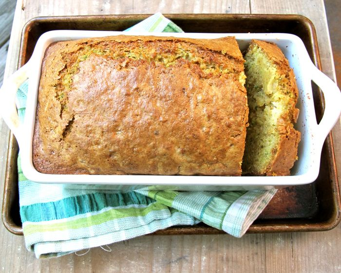 Zucchini Pineapple Bread  -A great recipe for zucchini bread that makes three loaves.