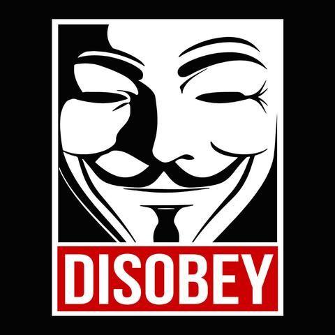 🌊 Disobey Hacker Mask Women T-Shirt 🌊 😮😮😮 Disobey Hacker Mask Inspired Artwork Women T-Shirt Designed by Spoofytees 😮😮😮 👉 www...