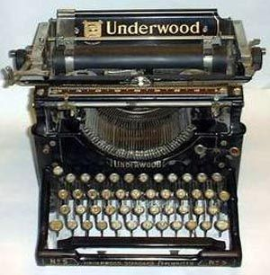 antique underwood typewriter - first produced in 1895