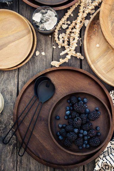Klein houten dienblad - Naturel - HOME | H&M NL 1