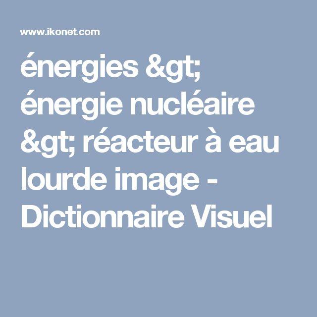 énergies > énergie nucléaire > réacteur à eau lourde image - Dictionnaire Visuel