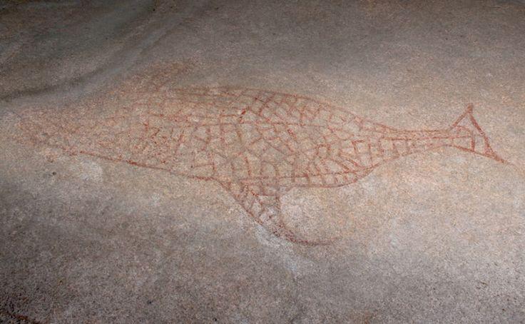 Helleristning eller såkalt bergkunst i Skogliveien i Drammen. Fra eldre steinalder, ca. 6.000 - 6.500 år gammel.