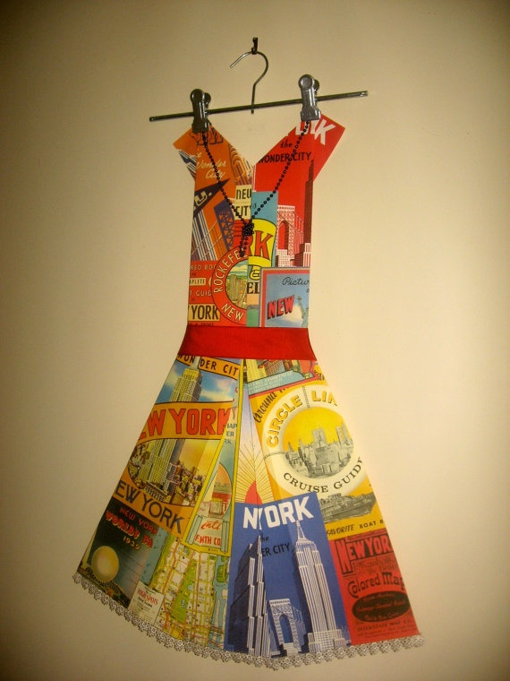 Folded Paper Dress  New York by FolduliciousFrocks on Etsy, $50.00