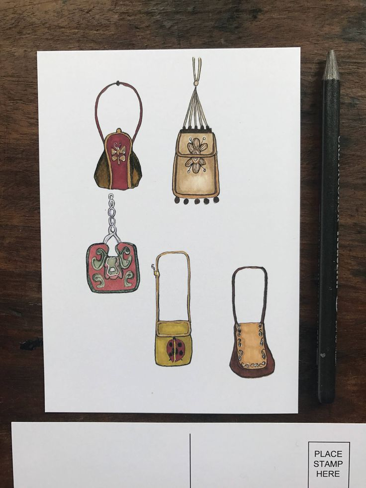 A personal favourite from my Etsy shop https://www.etsy.com/uk/listing/526733486/boho-bag-illustrated-postcard-print