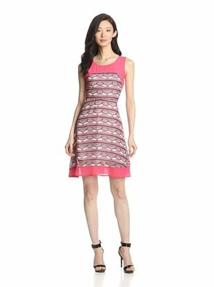 73% OFF Romeo & Juliet Couture Women's Sleeveless Printed Dress (Coral Combo)