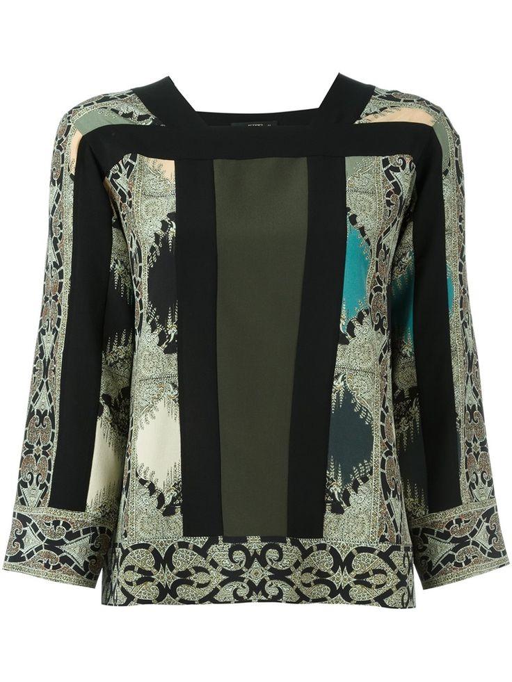 Etro блузка с узором