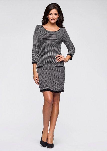 Pletené šaty S rafinovaným pleteným • 24.99 € • bonprix