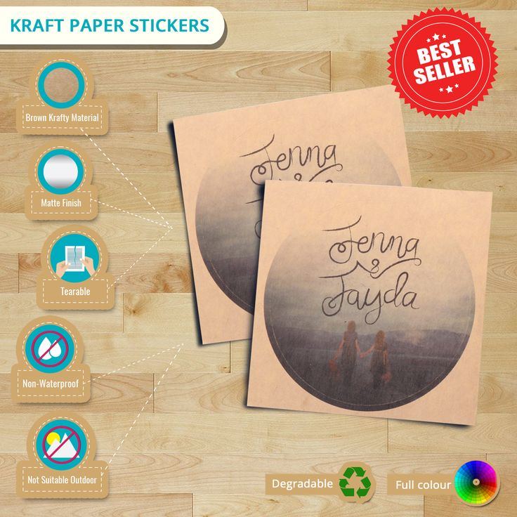 Learn from here on what material our #KraftPaperStickers made of and its characteristic. #kraftstickers #kraft #craft #labels #stickers #stickerprinting #vintage #infographics