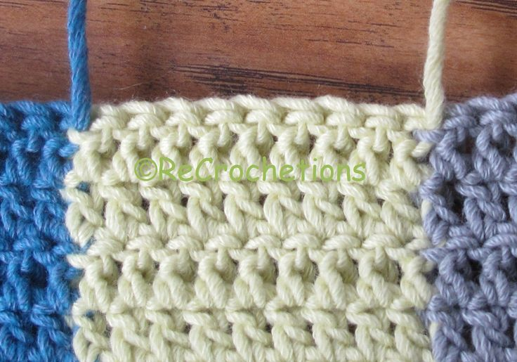 """ReCrochetions: Reversible Intarsia: Half Double Crochet Tutorial and how to """"yarn flip"""""""