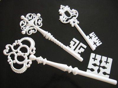 Misc Vintage Skeleton Keys - Wall Hangings