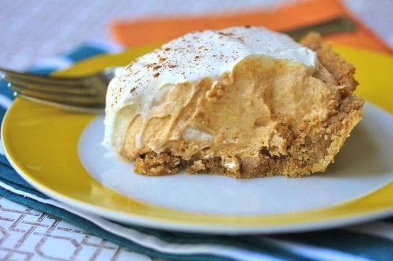 Low Fat Pumpkin Mousse Pie