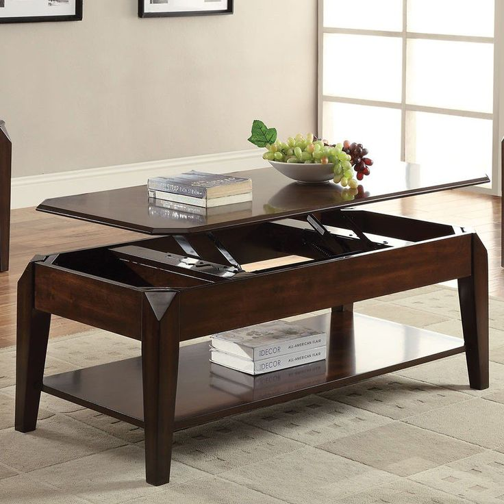 Au0026J Homes Studio Docila Coffee Table With Lift Top