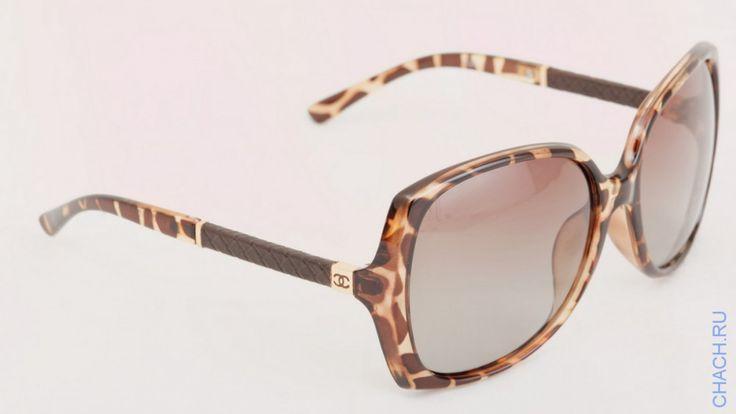 Очки Chanel с оправой леопардовой раскраски