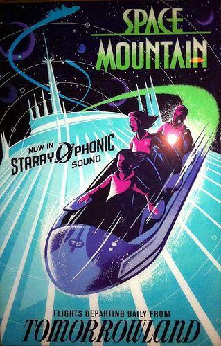 Vintage Space Mountain ride poster