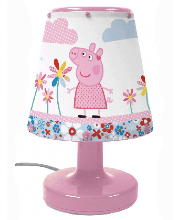 Put the finishing touch to your Peppa Pig themed bedroom with this fantastic Peppa Pig Bedside Lamp! The lamp is very safe for little ones to use and stays cool to touch even when left on for hours. All the components of the lamp are fully enclosed to stop prying fingers from touching any of the internal parts. The lamp features adorable images of Peppa on the shade with a pink base.