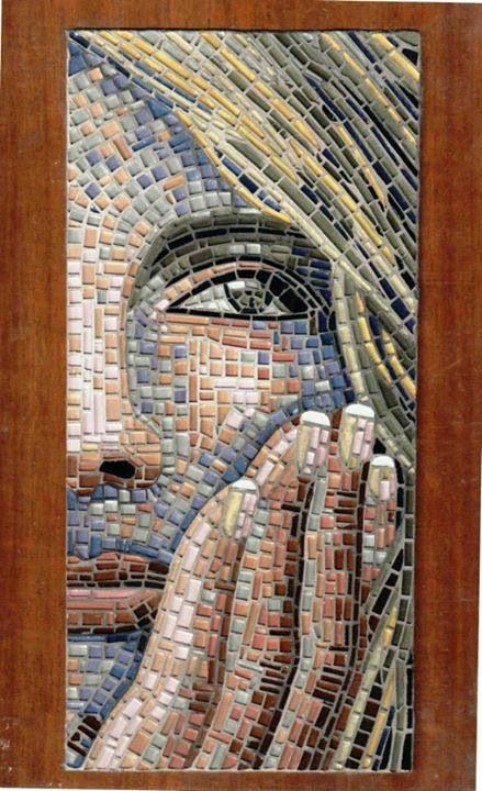 Mosaic of woman's face