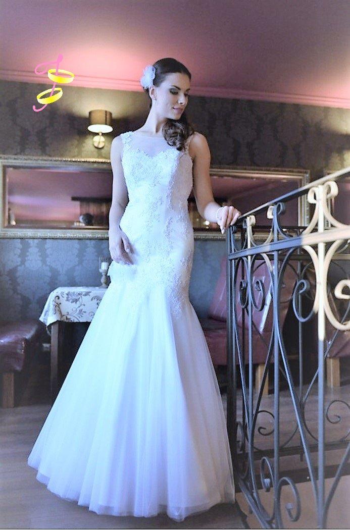 Bruidsjurk zeemeermin stijl