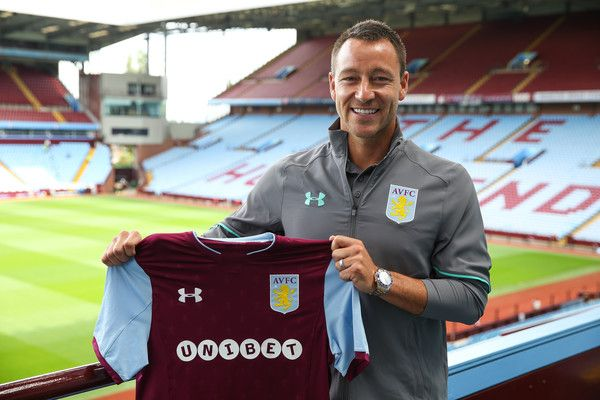 Aston Villa's new signing John Terry during the press conference at Villa Park on July 3, 2017 in Birmingham, England.