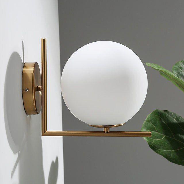 Modern Wall Lamp Glass Sconce Luminaire Ball Light Luminaria Abajur For Bathroom Bedroom Light E27 Base Home Lighting Lamparas Wall Lamps Lights Lighting Al 2020