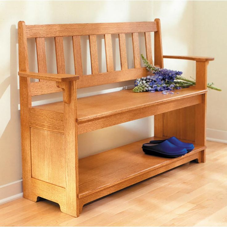 Sit-a-spell hall bench Woodworking Plan from WOOD Magazine
