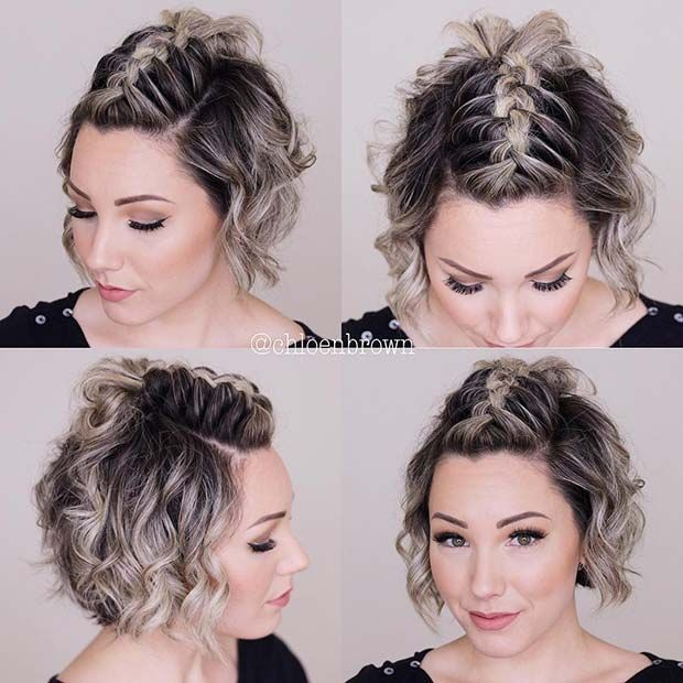 23 Quick And Easy Braids For Short Hair In 2020 Short Hair Mohawk Cute Hairstyles For Short Hair Hair Styles