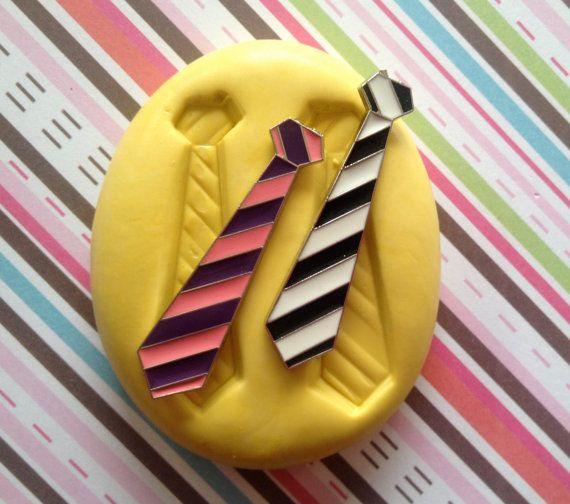 Neck Tie Silicone Mold/ Mould Cupcake Decor by MoldsSweetTreasure, $4.99