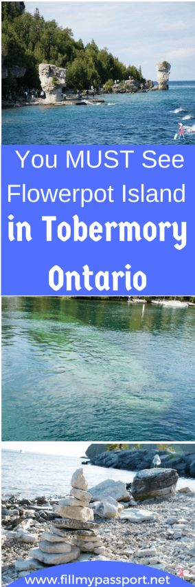 Flowerpot Island is such a mysterious and incredible haven up in Tobermory Ontario. Accessible by boat only, check out this really cool nature spot that is perfect for hiking, camping, swimming, and the beach. Flowerpot Island is a great summer day trip in Ontario Canada.