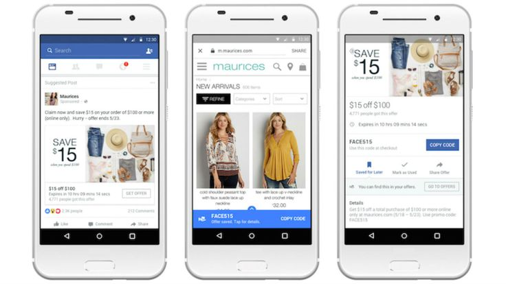 Facebook is trying to make its coupon product, Offers, a bigger deal  For years brands have been able to use Offers to distribute online or in-store coupons on Facebook as ads or organic Page posts by linking to a brand's site and emailing people a copy of the coupon to people who clicked on the ad or post. #facebookmarketing http://rock.ly/tyzf7