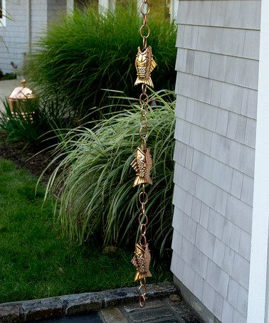 Take a look at this Fish Gutter Clip Rain Chain by Good Directions on #zulily today!