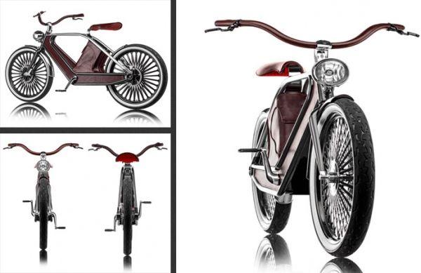 Электрический велосипед в ретро стиле от Бруно Греппи