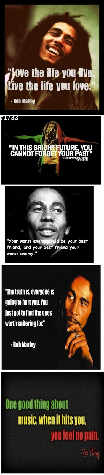 Five Inspirational and up lifting quotes by Bob Marley