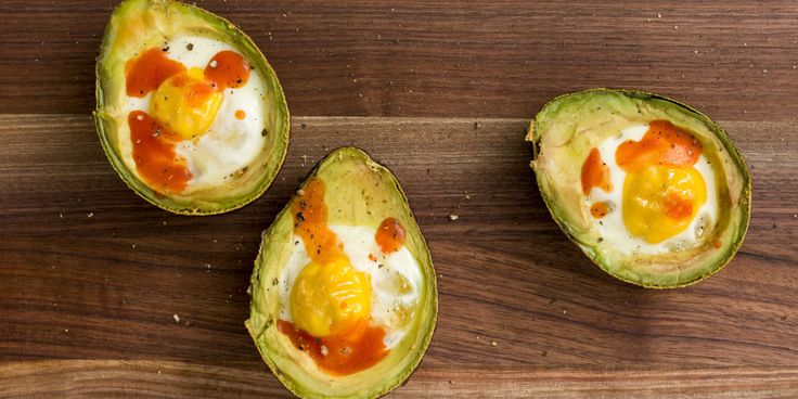 Can't get enough avocado? Using the creamy fat as a baked egg boat is genius.