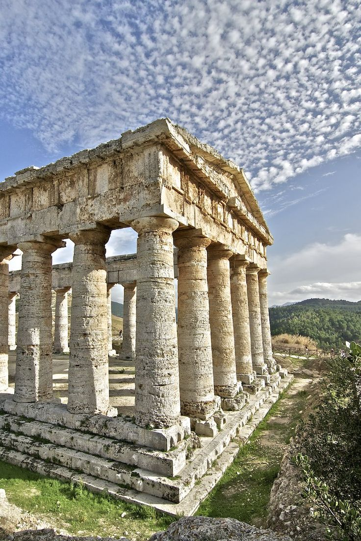 tempio segesta, sicilia, italia