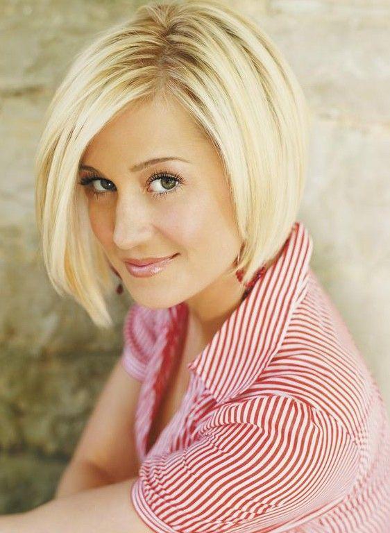 Short Asymmetric Bob hairstyle for women - Kellie Pickler short haircut