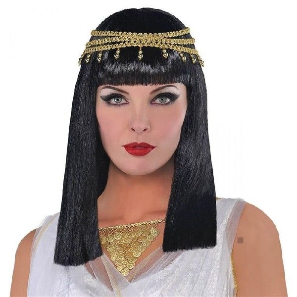 Egyptian Queen Wig Costume Accessory Adult Halloween ($29) ❤ liked on Polyvore featuring costumes, egyptian goddess halloween costume, egyptian queen costume, egyptian goddess costume, adult costumes and egyptian queen halloween costume