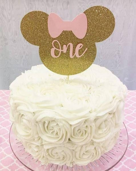 Awesome Minnie Mouse Cake Topper Minnie Smash Cake Topper First Birthday Funny Birthday Cards Online Inifodamsfinfo