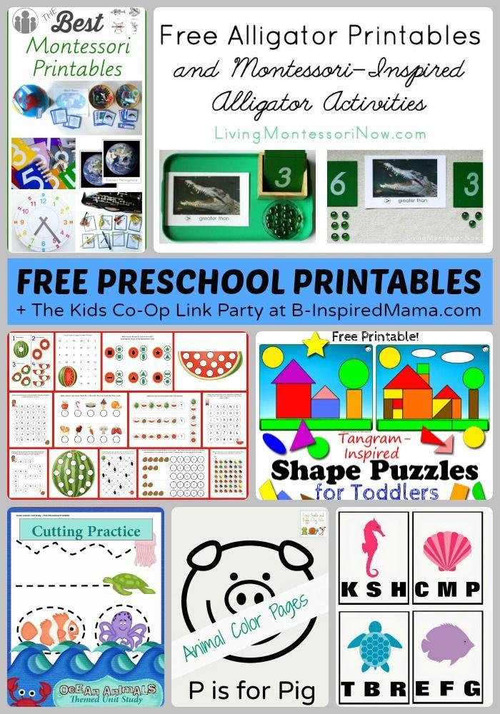 Free Preschool Worksheets and Printables + The Kids Co-Op - #kids #preschool #printables #kbn #binspiredmama