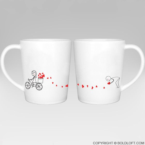 "BoldLoft.""All My Love for You"" His and Hers Couple Coffee Mugs-With these enjoyable coffee mugs, you have a loving keepsake get you through the day! These his and hers couple coffee mugs are perfect gifts for your boyfriend or husband and unique gifts for anniversary, Valentine's Day, Christmas, and wedding."