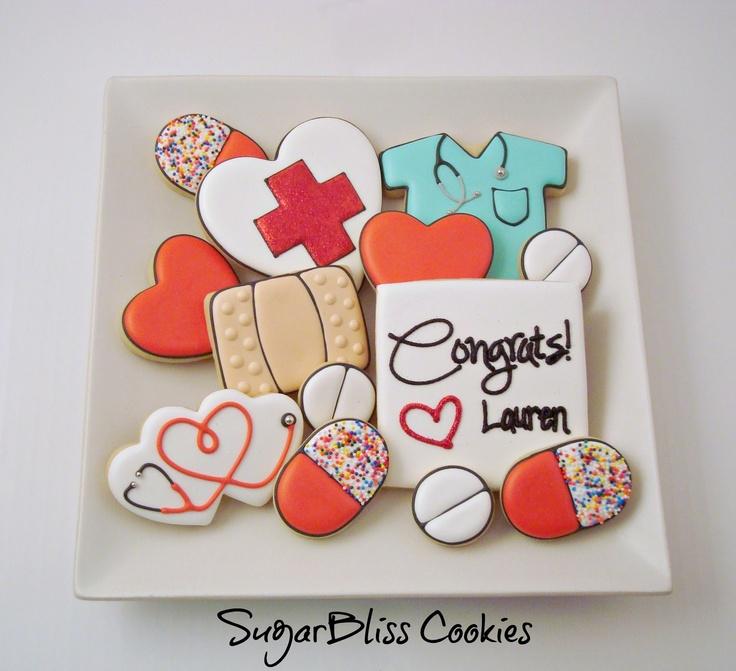 nurse cookies - love the pills!