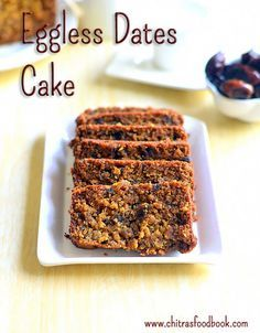 Eggless dates cake recipe