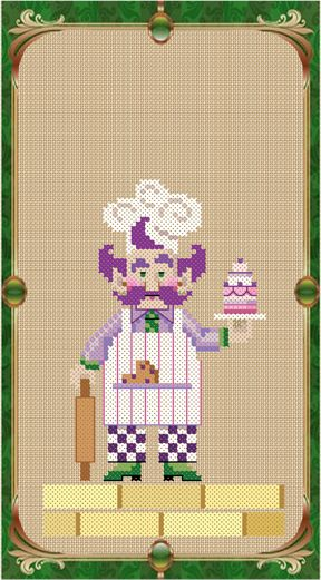 Mr. Gillikin from the Wonderful Wizard of Oz cross stitch chart collection by Brooke Nolan of www.brookesbooks.com.