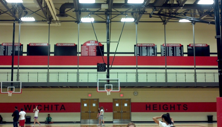 Heights High School Gym- Signs and Design updated their look with vinyl graphics, eliminating the need to repaint!