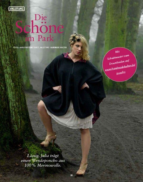 Poncho-Schnittmuster handmadekultur.de