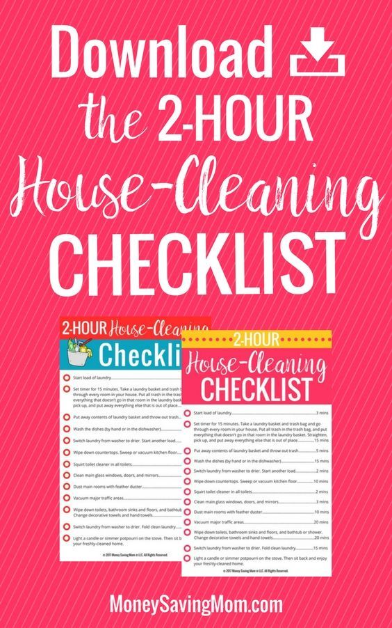 Download this FREE printable checklist to get your house clean and company-ready in just 2 hours -- even during the holidays!
