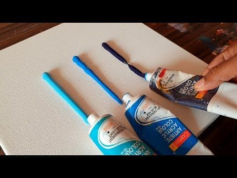 Easy & Satisfying / Abstract Painting Demo/ Spreading paints on canvas/ Project 365 days / Day #0281 – YouTube