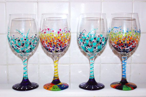 Painted Wine Glass Craft