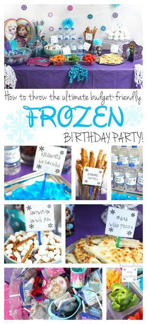 How to Throw the Ultimate Budget Friendly FROZEN Birthday Party! With FREE PARTY PRINTABLES!  #BDayOnBudget #ad