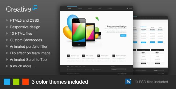 Creative - Responsive HTML Template - ThemeForest Item for Sale