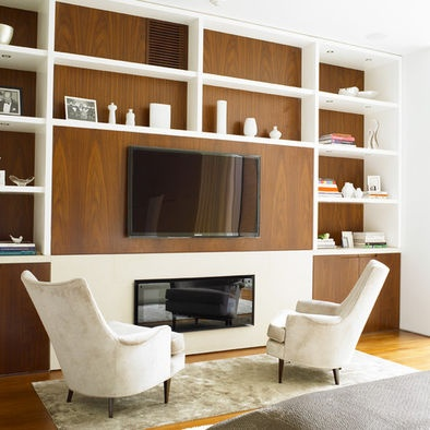 Built In Media Units Tv Over Fireplace Insert Design, Pictures, Remodel, Decor and Ideas - page 16